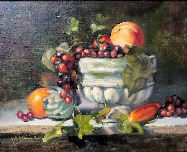 Still Life with Fruit by EMILE (unframed view)